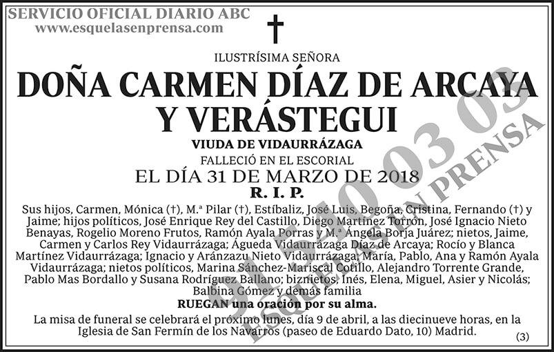 Carmen Díaz de Arcaya y Verástegui